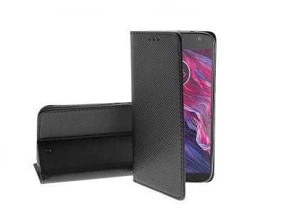 Калъф тефтер Smart Book за Motorola MOTO X4, Черен