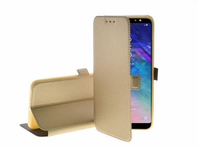 Калъф тефтер BOOK POCKET за Samsung Galaxy A6 Plus 2018 (A605), Златист