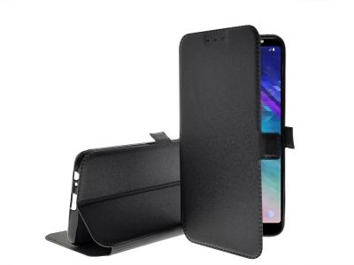 Калъф тефтер BOOK POCKET за Samsung Galaxy A6 Plus 2018 (A605), Черен