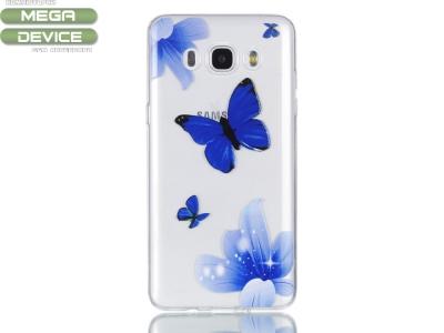Силиконов Гръб за Samsung Galaxy J7 2016 SM-J710, Пеперуди