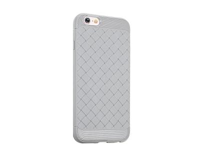 Силиконов Гръб Woven за iPhone 6s/6, Сив
