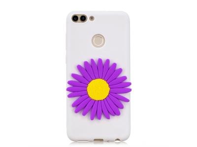 Силиконов Гръб 3D за Huawei P Smart/Enjoy 7S , Лилаво цвете