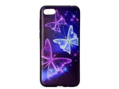 Силиконов Гръб за  Huawei Y5 2018, Пеперуди