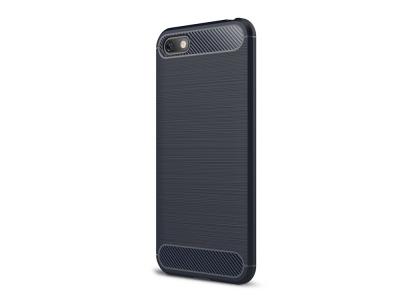 Силиконов гръб Carbon за Huawei Y5 2018 / Y5 Prime 2018, Тъмно син