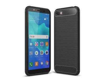 Силиконов гръб Carbon за Huawei Y5 2018 / Y5 Prime 2018, Черен