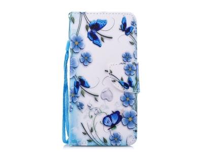 Калъф Тефтер за Huawei Mate 10 Lite/nova 2i/Maimang 6/Honor 9i (India), Сини цветя