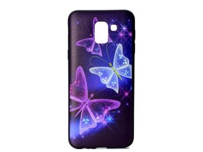 Силиконов Гръб Colored за Samsung Galaxy J6 2018, Пеперуди