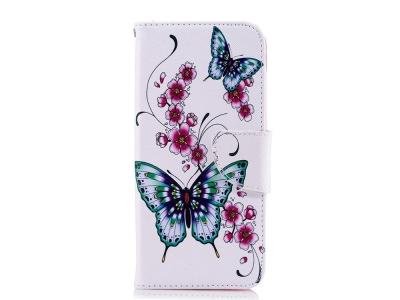 Калъф Тефтер за Samsung Galaxy J6 2018, Цветя и Пеперуди