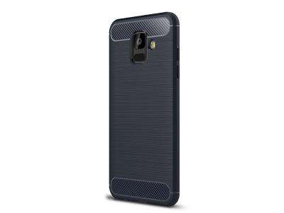 Силиконов гръб Carbon за Samsung Galaxy A6 2018, Тъмно син