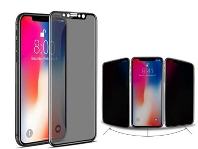 Стъклен протектор Privacy 5D Full Glue за iPhone X , Черен