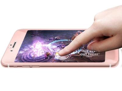 Стъклен протектор 5D Full Glue за Iphone 6 / 6S , Розов