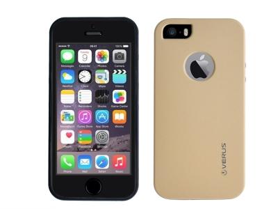 360 Градусов Калъф за iPhone 5 / 5S / SE, Златист