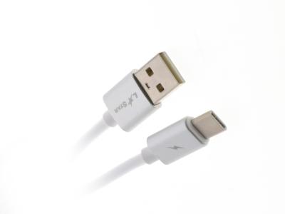 USB кабел TYPE C LS09, Бял