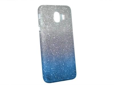 Калъф Гръб SHINING за Samsung Galaxy J4 2018 J400, Сребрист/ Син