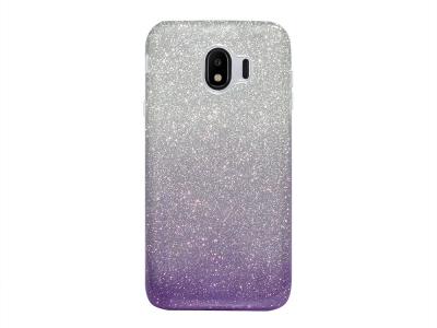Калъф Гръб SHINING за Samsung Galaxy J4 2018 J400, Сребрист / Лилав