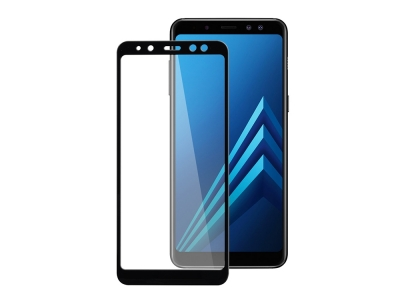 Стъклен протектор 3D camera view за Samsung Galaxy A8 2018 / A5 2018 G950F, Черен
