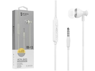 Слушалки с Микрофон PCPRO RX-13, Бял
