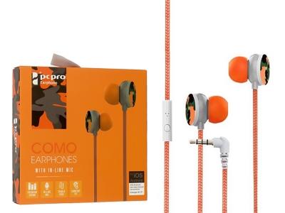 Слушалки с Микрофон Como M8, Оранжев