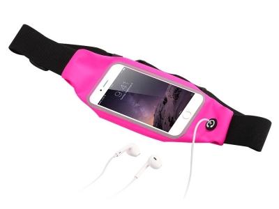 Спортен калъф за кръста с прозорец  за iPhone 6 Plus, Розов