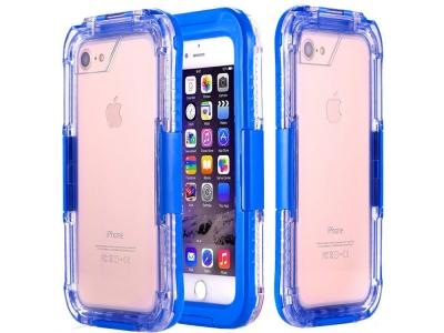 Водоустойчив калъф Waterproof за iPhone 7 / 8 (4.7), Син