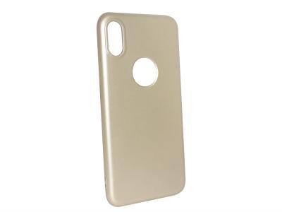 Силиконов Гръб Level за iPhone X , Златист