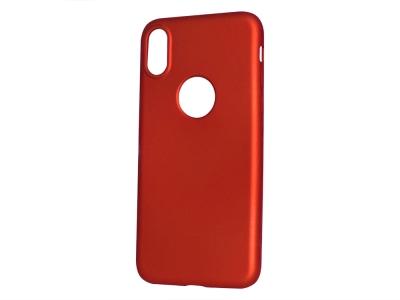 Силиконов Гръб Level за iPhone X / 10, Червен