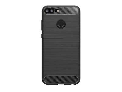 Силиконов гръб Carbon за Huawei Honor 9 Lite, Черен