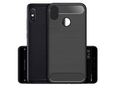 Силиконов гръб Carbon за XIAOMI Redmi NOTE 5 PRO, Черен