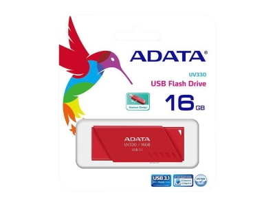 ФЛАШ ПАМЕТ 16GB USB3 UV330 ADATA, ЧЕРВЕН