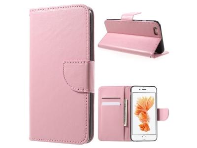 Калъф тефтер Leather за  iPhone 6s / 6 (4.7), Розов