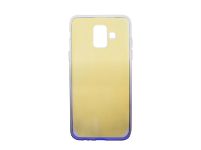 Силиконов гръб OMBRE BLUERAY за Samsung Galaxy A6 2018 A600, Лилав/ Златист
