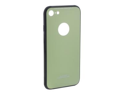 Стъклен гръб със силиконова лайстна Glass за iPhone 7 / iPhone 8 (4.7), Светло зелен