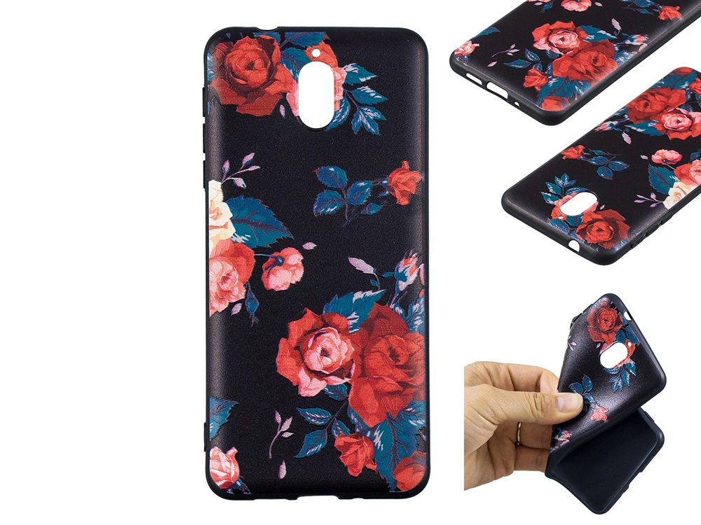 Силиконов гръб за Nokia 3.1 2018, Красиви цветя