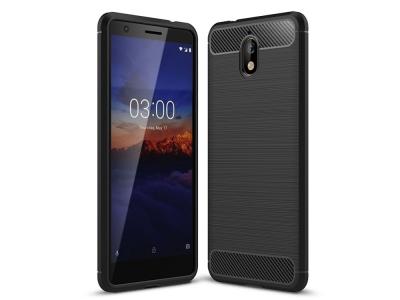 Силиконов гръб Carbon за Nokia 3.1 2018, Черен