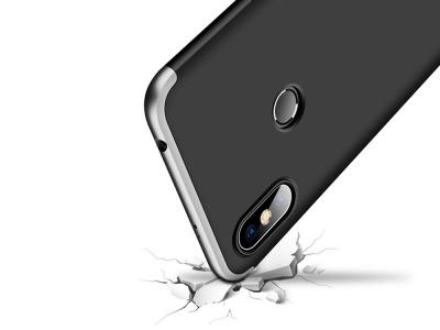 Ултра Тънък Пластмасов Калъф FULL за Xiaomi Redmi S2 / Redmi Y2, Черен/ Сребрист