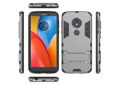 Удароустойчив Калъф с Поставка за  Motorola Moto E5 / G6 Play, Сив