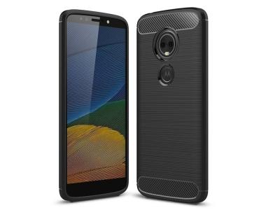 Силиконов Калъф Carbon за Motorola Moto E5 Plus , Черен
