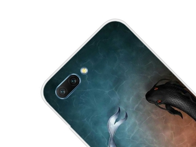 Силиконов Гръб за Huawei Honor 10 , Черна и Бяла риба