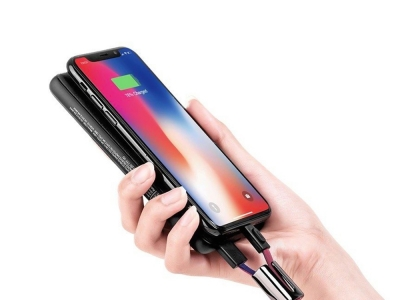 Кабел HOCO USB U36 към iPhone Lightning, Червено/ Син