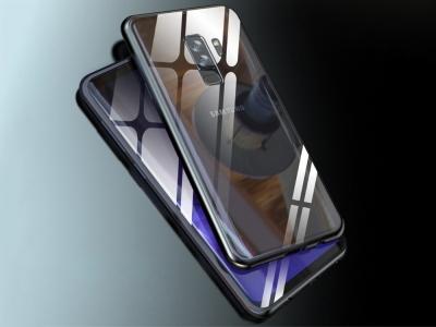 360 Алуминиев магнитен бъмпер за Samsung Galaxy S9 Plus (G965), Черен