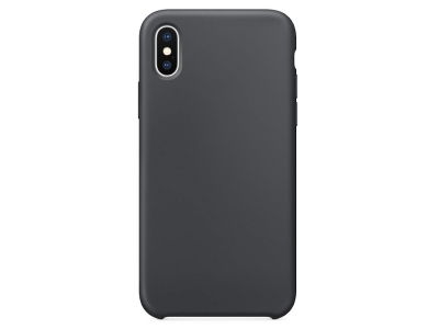 Пластмасов гръб LUX за iPhone X, Тъмно сив