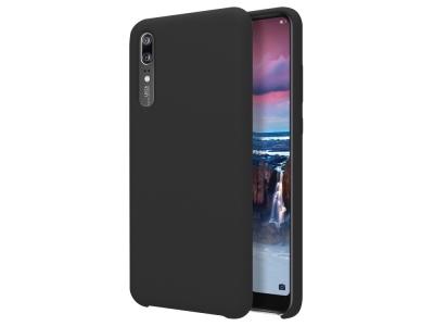 Пластмасов гръб LUX за Huawei P20, Черен