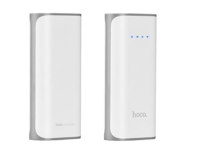 Универсална Външна Батерия (Power Bank) HOCO B21 5200 mAh, Бял