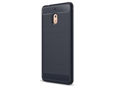 Силиконов гръб Carbon за Nokia 2.1 2018, Тъмно син