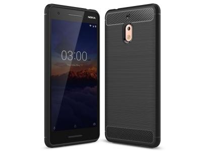 Силиконов гръб Carbon за Nokia 2.1 2018, Черен