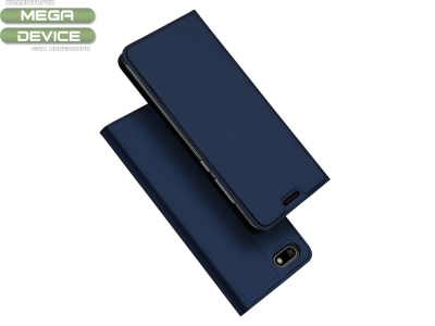 Калъф Тефтер ELEGANCE за Huawei Y5 2018 / Y5 Prime 2018 / Honor 7s / Play 7, Тъмно син