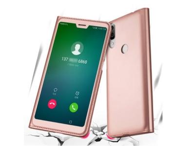 Калъф тефтер Extra Window - Huawei P20 Lite - Rose Gold