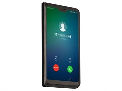 Калъф тефтер Extra Window за Huawei P20 Lite , Черен