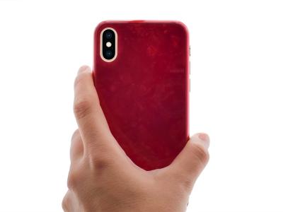 Стъклен Гръб Glass PRODA за iPhone Xs (5.8), Червен