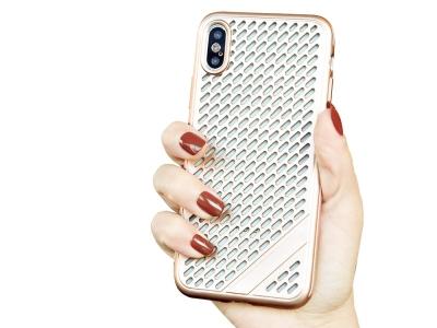 Силиконов Гръб Meshes за iPhone Xs Max (6.5), Златист
